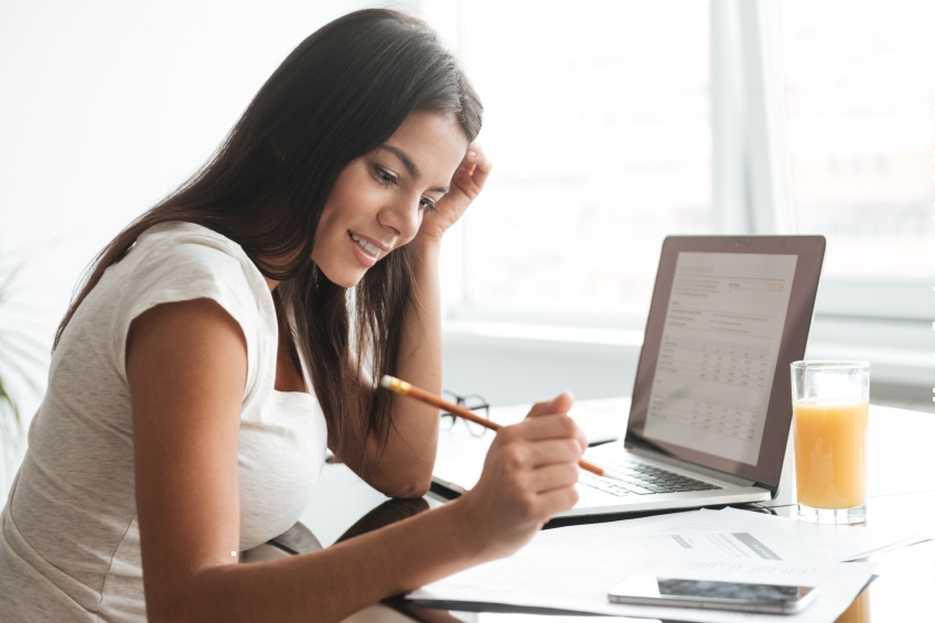 woman looking energy costs